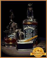 Картины по номерам 40×50 см. Babylon Premium Виски Джек Дэниэлс и сигара, фото 1