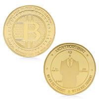 Биткоин Bitcoin сувенирный позолота