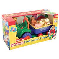 Іграшка на колесах Kiddieland ТРАКТОР З ТРЕЙЛЕРОМ (024753)