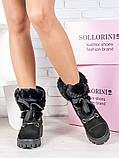 Черевики жіночі замшеві на хутрі Sollorini, фото 3
