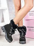 Черевики жіночі замшеві на хутрі Sollorini, фото 4