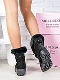 Черевики жіночі замшеві на хутрі Sollorini, фото 5