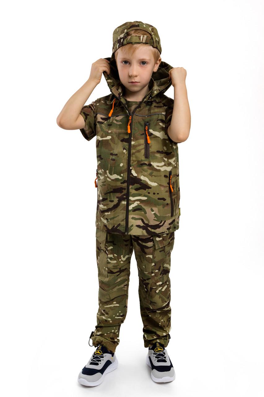 Жилет городской стиль милитари детский для мальчиков камуфляж МТП