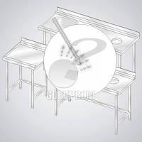 Стол для кухни с направляющими на заказ из нержавейки