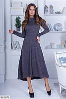Ангоровое платье клеш норма арт 1032