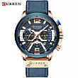 Чоловічі стильні водонепроникні годинники CURREN 8329 Rose Gold Blue, фото 2