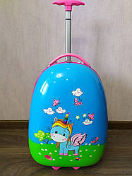 Детский чемодан на 2 колесах 43*30*20см Единорог