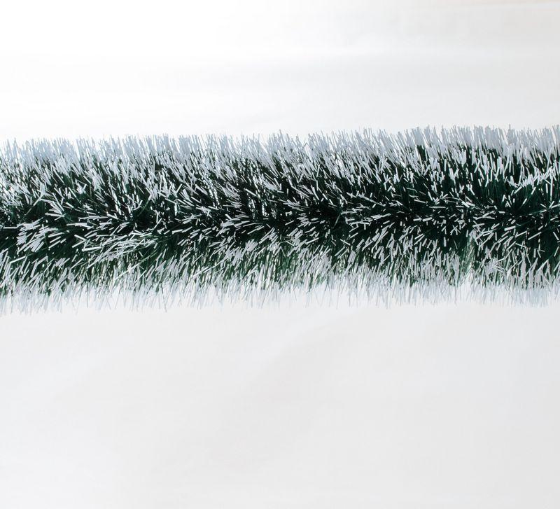 Гирлянда 100 (зеленая с бел. кончиками) 3м