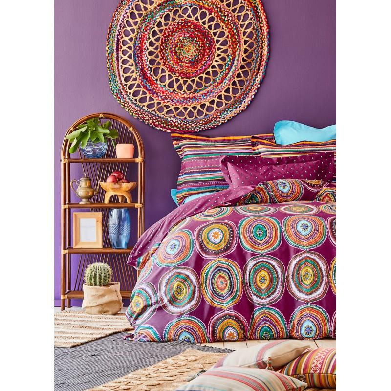 Постельное белье Karaca Home ранфорс - Adya murdum 2020-1 фиолетовый