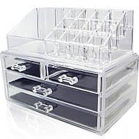 Органайзер двухуровневый с 4 ящичками для хранения косметики и аксессуаров  Cosmetic storage box