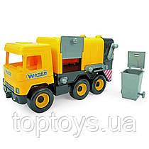 Авто Middle truck сміттєвоз жовтий в коробці (39492)