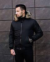 Куртка мужская зимняя с капюшоном на меху