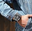 Чоловічі стильні водонепроникні годинники CURREN 8329 Silver Black, фото 5