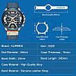Чоловічі стильні водонепроникні годинники CURREN 8329 Silver Black, фото 6