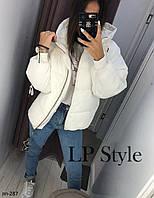 Женская теплая куртка с капюшоном 2 цвета