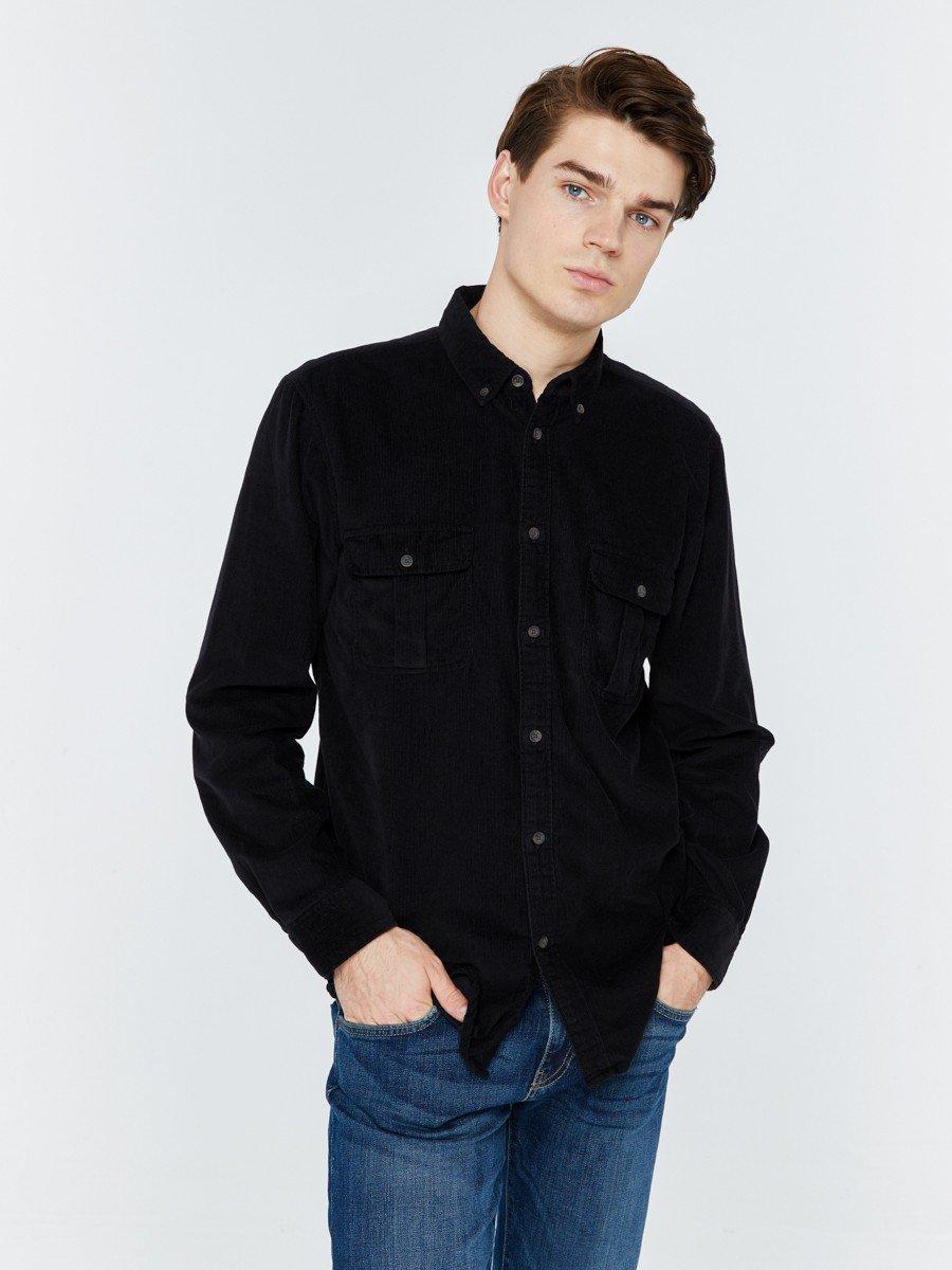 Рубашка с длинным рукавом мужская BS CALLAN SHIRT LS 900 BLACK VELVET