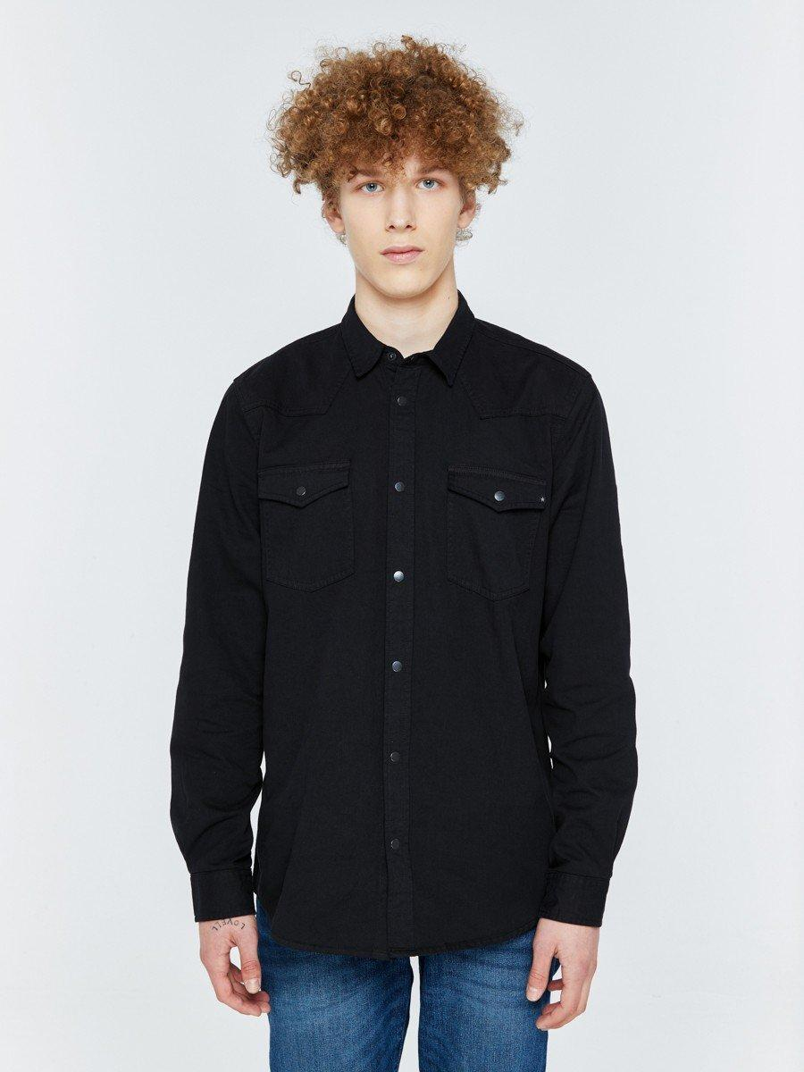Рубашка с длинным рукавом мужская BS EMERSYN SHIRT LS 906 BLACK