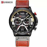Мужские стильные водонепроницаемые часы CURREN 8329 Black