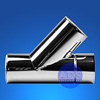 Тройник 45° дымохода из нержавеющей стали, 1.0 мм СЭНДВИЧ ДЫМОХОДЫ АДС TERMO STALAR  STANDART нерж/оц