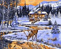 Картины по номерам 40×50 см. Олень у ручья Художник Ричард Макнейл, фото 1