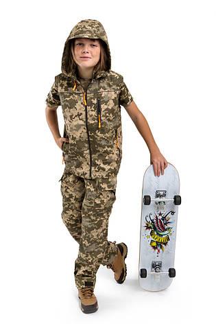 Жилет детский Скаут для мальчиков камуфляж Пиксель, фото 2