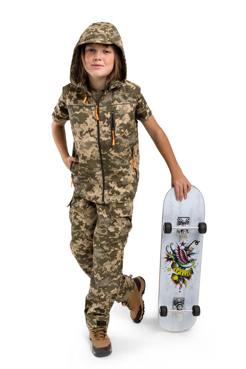 Жилет детский Скаут для мальчиков камуфляж Пиксель