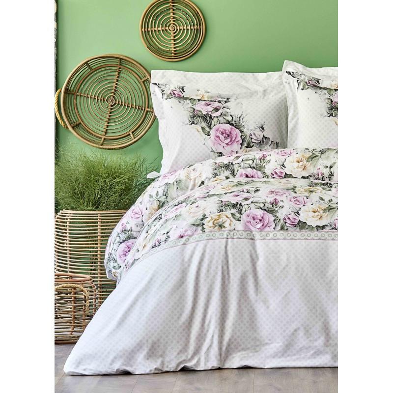 Постельное белье Karaca Home ранфорс - Elsa pembe 2020-1 розовый евро
