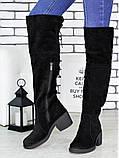 Ботфорты женские замшевые Sollorini, фото 2