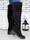 Ботфорты женские замшевые Sollorini, фото 4