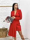 Асимметричное платье с плиссе и пиджачным верхом на запах 17py385, фото 2