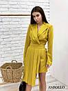 Асимметричное платье с плиссе и пиджачным верхом на запах 17py385, фото 5