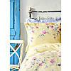 Постельное белье Karaca Home ранфорс - Lupines sari 2020-1 желтый евро, фото 2