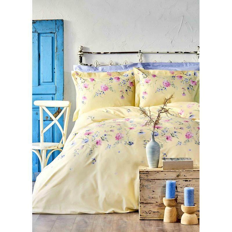Постельное белье Karaca Home ранфорс - Lupines sari 2020-1 желтый евро