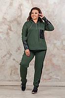 Спортивный женский костюм полубатал, батал р-ры 48-62