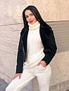 Вязаный женский костюм брючный с манжетами и высокой горловиной 4ks334, фото 2