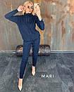 Вязаный женский брючный костюм со свободной узорной кофтой 63ks338, фото 2