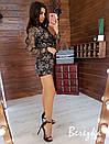 Женский ромпер с пайеткой и вышивкой и верхом на запах 66ks339Q, фото 3
