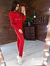 Женский теплый комбинезон на флисе с капюшоном и молниями 66ks342Е, фото 7