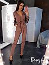 Женский комбинезон с верхом на запах и рукавами из сетки с вышвкой 66ks350Q, фото 5