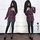 Женский твидовый пиджак оверсайз удлиненный 8pk242, фото 2