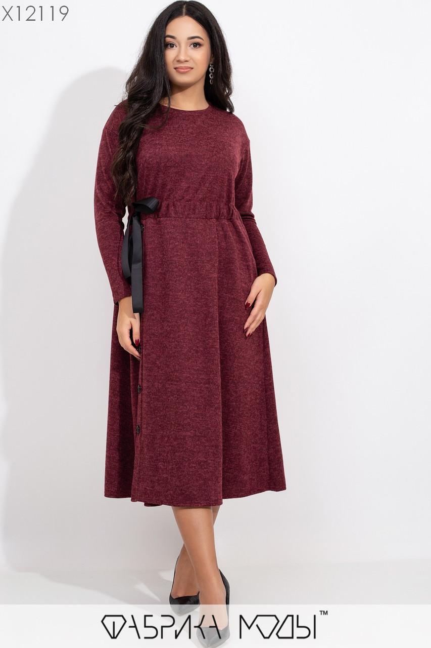 Ангоровое платье миди в больших размерах с расклешенной юбкой и поясом на талии 1ba365