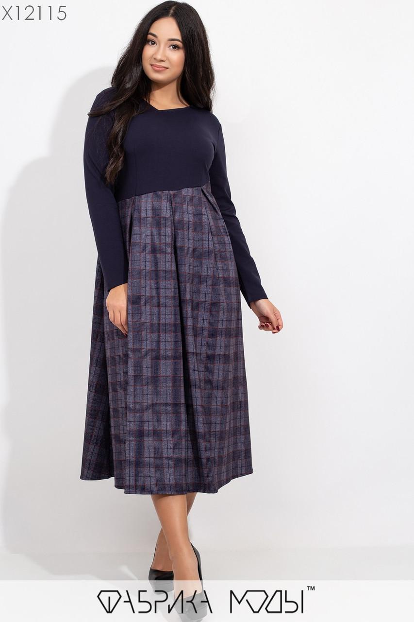 Платье в больших размерах с завышенной талией и расклешенной юбкой миди 1ba381