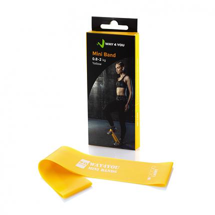 Фитнес резинка для фитнеса Way4you Mini Bands (Light - 2 кг), фото 2
