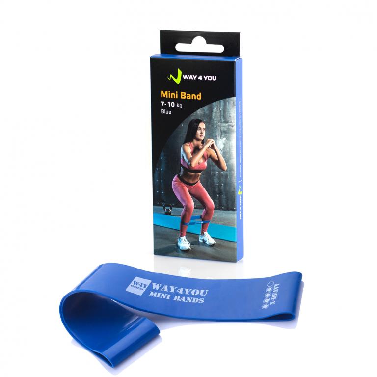 Фитнес резинка для фитнеса Way4you Mini Bands (X-Heavy - 10 кг)