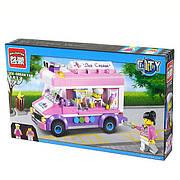 """Конструктор Brick """"Машина с мороженым"""" 1112 Розовая серия на 212 дет."""