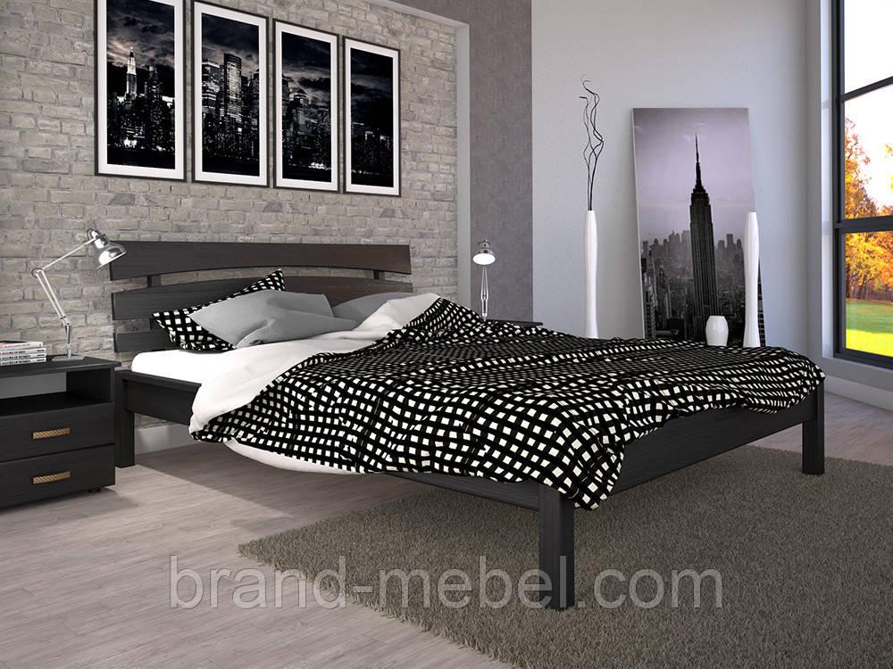Дерев'яне ліжко двоспальне Доміно 3 / Деревянная кровать двуспальная Домино 3