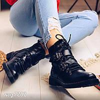 Демисезонные черные ботинки 39 размер, фото 1
