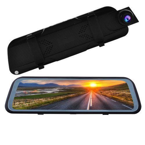 """Автомобільний відеореєстратор-дзеркало L-9100, 9,66"""" Touch screen весь екран, 2 камери, 1080P Full HD"""