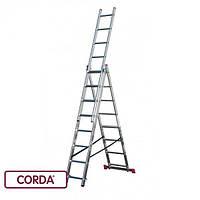 11.11  Универсальная лестница трехсекционная 3х7 KRAUSE CORDA 4,20м