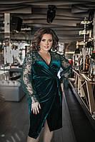 Нарядное женское платье большие размеры Г05092 бутылка, фото 1